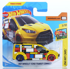 HOT-2018-352-Transit (adrianz toyz) Tags: hot wheels 2018 diecast toy model ford transit connect mondrian artcars 352 adrianztoyz
