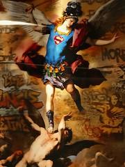 Marco Battaglini at Eden Fine Arts, Mayfair (mark.wohlers) Tags: marcobattaglini mayfair superman angel michael lucagiordano apocalypse heavenlywar london edenfineart