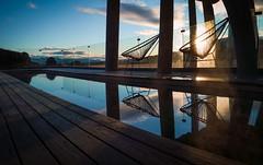 Hotel Pool at Sunrise (Christoph Wenzel) Tags: herbst urlaub wasser microsoftlumia950 sonnenaufgang hotel panorama landschaft natur island grímsnesoggrafningur suðurland is