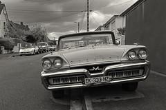 Sixties cars (25) (JLM62380) Tags: voiture 1960 marquise ville côte d'opale festival rétro police ancien retrofestival soixante cars sixties nostalgia nostalgie vintage mercury bw monochrome