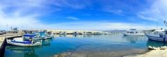 in blue (majka44) Tags: cyprus travel blue sea port reflection light boat sky cloud pier