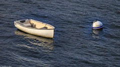 Dinghy and Float (allentimothy1947) Tags: bay boston ma barier boat ocean pipe plane protection sail ship water windows