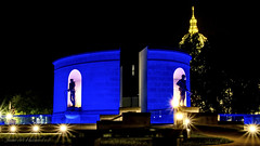 Veteran's Memorial (jmhutnik) Tags: night memorial war veteran westvirginia blue dome lights august summer