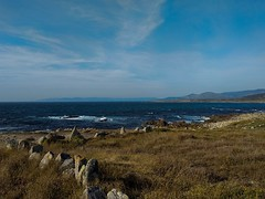 Costa da morte (DAVID MARCHENA) Tags: seascape sea see coast clouds blue sky colors montain waves water spain galicia dramaticlandscape landscape ocean cape light summer sunlight