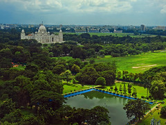 Oh my lovely Kolkata !! (Lopamudra !) Tags: lopamudra lopamudrabarman lopa landscape kolkata calcutta city civilisation civilization cityscape westbengal india victoria memorial victoriamemorial architecture monument garden field racecourse green verdant sky skyscape clouds cloud beauty beautiful lake pond water meadow tree trees colour color colours colourful urban structure building