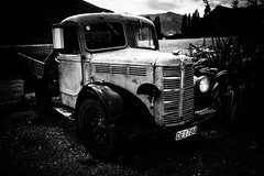 untitled (ChrisRSouthland) Tags: truck old broken vehicle monochrome sonyrx1 bw blackandwhite blackwhite hills