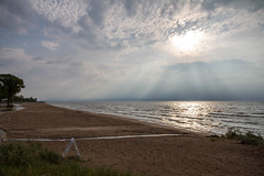Monday Morning (Lester Public Library) Tags: tworiverswisconsin tworivers beach beaches lakemichigan lake greatlakes sand water clouds cloudy sky sun tree wisconsin lesterpubliclibrarytworiverswisconsin wisconsinlibraries readdiscoverconnectenrich