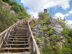 Upstairs (✦ Erdinc Ulas Photography ✦) Tags: turkey turkish nature safranbolu mountain rocks stone wood stair stairs upstairs view green blue clouds panasonic hill canyon tokatli travel turkiye walking climbing