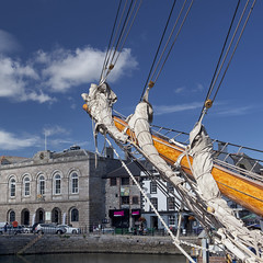 Customs House (Peter Trott) Tags: rigging sails boat ropes plymouth barbican explore