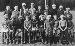 Class photo (theirhistory) Tags: children kid boy girl school trousers jumper shoes wellies skirt boots shirt