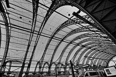 The central station (Tobi_2008) Tags: hauptbahnhof centralstation gebäude building schwarzweiss blackandwhite dresden sachsen saxony deutschland germany allemagne germania