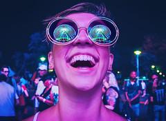 minnesota state fair fun (Dan Anderson.) Tags: minnesotastatefair mnstatefair statefair fair mn amusementpark carnival girl glasses sunglasses reflection reflected ferriswheel ride midway colors night fun