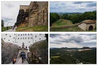 Collage Festung Königstein - 1
