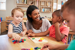 684059604 (hcpswebcomm) Tags: school montessori class pupil children wooden helping encouraging group together boy girl interior caucasian mixedrace africanamerican black 4yearsold 3yearsold female male 20s creative preschooler southafrica zaf