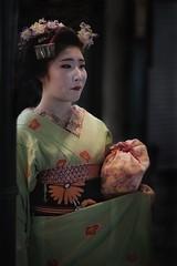 Fishing geishas (karinavera) Tags: city night photography urban ilcea7m2 people street geisha japan kyoto