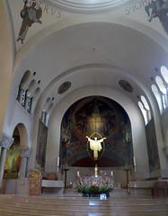 Interior of church Saint-Ferdinand in Paris 17th (Sokleine) Tags: interior indoor saintferdinand church église modern catholic religion culte paris 75017 heritage france frenchheritage