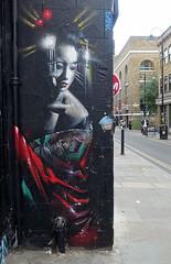 Dank (BE'N 59. Street photographer) Tags: dank geisha streetart londres london londonstreetart streetartlondon