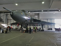 Vulcan XL426 stands proud inside Hangar 6, Southend Airport 11.06.17 (Trevor Bruford) Tags: vrt vulcan restoration trust xl426 southend airport avro nuclear bomber cold war plane jet aircraft airplane aviation raf tin triangle delta lady royal air force