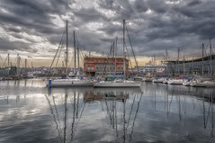Boats A Coruña (danilob1) Tags: danilobruschi spain acoruña galicia boats storm reflection clouds city sea seascape