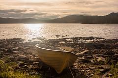 IMG_4767-1-2 (Andre56154) Tags: schweden sweden sverige wasser water see lake ufer himmel sky wolke cloud landschaft landscape sonne sun boot boat
