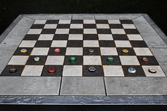 Distance 97 Slavic Entertaiment (Mirek-Szymanski) Tags: distance chees checkers beer modernart fineart checkmate caps gallery