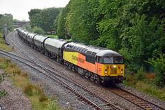 56096 6E32 Lostock Hall (British Rail 1980s and 1990s) Tags: train rail railway loco locomotive lmr londonmidlandregion mainline lancs lancashire livery preston liveried traction diesel colas railfreight prestondocks bitumen tanks 6e32 56 class56 br britishrail grid type5 56096 freight