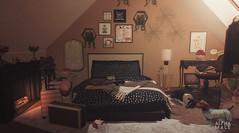 #529. Pretty pretty please  Don't you ever ever feel  Like you're less than fucking perfect... (Gui Andretti (Man Cave • Noir • SenseS) Tags: loftaria bueno thearcade gacha bedroom decor decorate decoration davidheather jian blackbantam lady girl woman place space furniture mesh second life single family couple romance travel astralia pet puppy dog animal digital art
