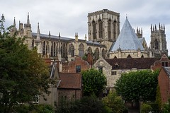 york minster from the walls (liangford) Tags: york minster 50mm sony a7ii yorkshire walls church cathedral