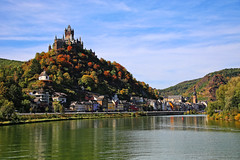 Cochem and Imperial Castle, Rhineland-Palatine, Germany (Andy von der Wurm) Tags: reichsburg cochem imperial castle rheinlandpfalz rhinelandpalatine germany deutschland allemagne alemania europa europe mosel mosella river fluss herbstlich autumnly colors farben farbig bunt landschaft landscape burg palace palast schloss andyvonderwurm andreasfucke hobbyphotograph outdoor