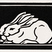 Two rabbits (1923-1924) by Julie de Graag (1877-1924). Original from the Rijks Museum. Digitally enhanced by rawpixel.