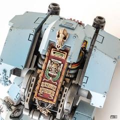 Redemptor: View slit (Will Vale) Tags: 28mm 40k scifi spacewolves redemptordreadnought scalemodel primaris gamesworkshop wh40k spacemarines
