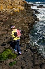 Giant's Causeway (abtabt) Tags: unitedkingdom uk northernireland sea ocean giantscauseway stone basaltcolumns worldheritage girl d70028300 causeway