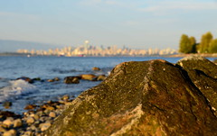 Background: Vancouver (afagen) Tags: vancouver britishcolumbia bc canada acadiabeach beach burrardinlet skyline bokeh depthoffield