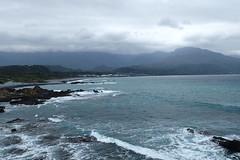 Depuis le pont de Sanxiantai (3) (8pl) Tags: vagues eau mer océan montagnes brume nuages paysage nature taïwan sanxiantai rocher roche écume