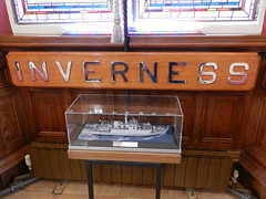 Model of HMS Inverness, Town House, Inverness, Aug 2018 (allanmaciver) Tags: hms inverness mine hunter sweeper freedom city warship war commanding officer royal navy 1990 display town house council offices highlands scotland allanmaciver