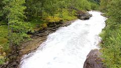 A Waterfall taken from above (abrideu) Tags: abrideu canoneos100d waterfall norway trollmountain trollstigen forest tree trees water grass landscape ngc