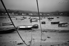 "Unclear (""A.S.A."") Tags: guernsey channelislands rocquainebay boat harbour lowtide fog fortgrey britain island sonya7rmkii sony2470f28gm blackwhite mono monochrome greyscale niksoftware silverefex asa2018"