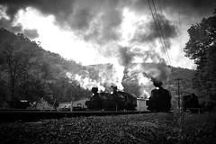 Cass Scenic Railway (benpsut) Tags: cass cassscenicrailroad durbin greenbrier steam steamtrain steamlocomotive shops mountains hills blackandwhite bw