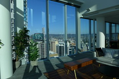 View of Brisbane from 32nd floor, 480 Queen St (tanetahi) Tags: brisbane cityscape highrise towerblocks cbd centralbusinessdistrict queensland australia urbanpanorama view tanetahi