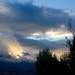 Ciel d'orage en fin de journée.