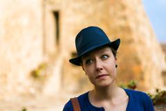 Elly (phyrrula) Tags: model hat thinking arquapetrarca veneto blue eyes nikon nikonphotography portrait portraitphotography
