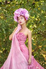 Peony Girl (Eugine Li) Tags: peony girl woman flower outdoor beauty beautiful