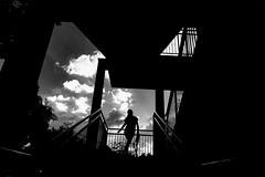 20180903 Urban space (soyokazeojisan) Tags: japan osaka bw sky city people blackandwhite monochrome digital lumix tx1 2018