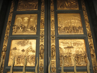 Bronze Door of Baptistry in Florence Cathedral