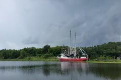 Bayou Lafourche, Louisiana (Shane Adams Photography) Tags: louisiana lafourcheparish goldenmeadow bayou bayoulafourche boat shrimpboat trees