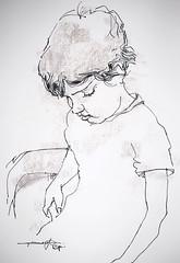 P1018691 (Gasheh) Tags: art painting drawing sketch portrait child boy line pen pastel gasheh 2018