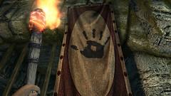 Hail Sithis (Rain Love AMR) Tags: darkbrotherhood banner torch blackhand dawnstarsanctuary skyrim pc gaming screencap screenshot