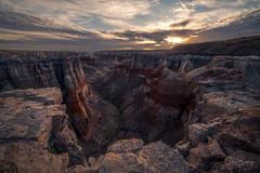 Coal Mine Canyon Sunrise IV (sberkley123) Tags: hopi d850 nikon desert sandstone canyon coalminecanyon navajo colors arizona usa coalmine 1424mm sunrise
