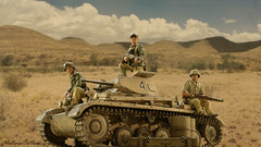 The Little Panzer that Could (WesternOutlaw) Tags: afrikakorps dak kingcountry kingandcountry 130 130scale rommel afrikakorpsdiorama ratpatrol stateofdivision deathrace panzer panzerii