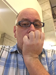 Day 2404: Day 214: Thinking (knoopie) Tags: 2018 iphone picturemail doug knoop knoopie me selfportrait 365days 365daysyear7 year7 365more day2404 day214 august